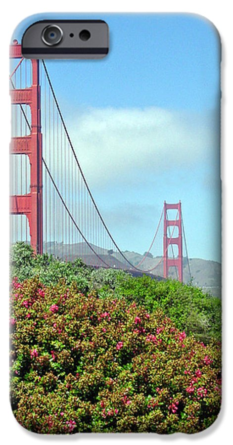 Golden Gate Bridge IPhone 6 Case featuring the photograph Golden Gate by Suzanne Gaff
