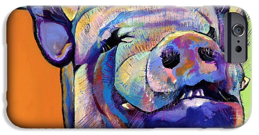 Pat Saunders-white Canvas Prints IPhone 6 Case featuring the painting Grunt  by Pat Saunders-White
