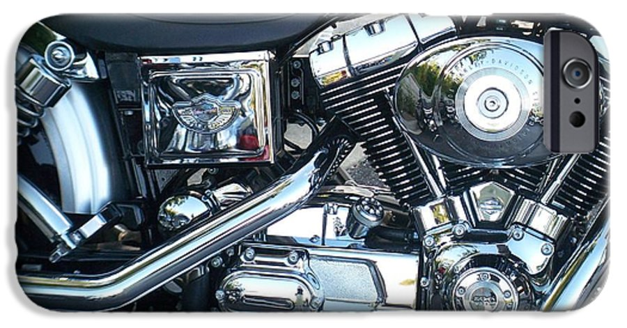 Motorcycles IPhone 6 Case featuring the photograph Harley Black And Silver Sideview by Anita Burgermeister