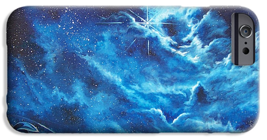 Astro IPhone 6 Case featuring the painting Heavens Gate by Murphy Elliott