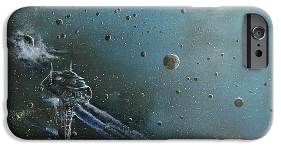 Astro IPhone 6 Case featuring the painting Hiding In The Field by Murphy Elliott