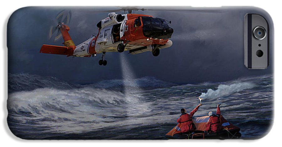 Aviation IPhone 6 Case featuring the painting High Magnitude Of Bravery by Mark Karvon