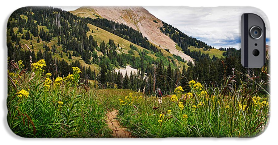 3scape IPhone 6 Case featuring the photograph Hiking In La Sal by Adam Romanowicz