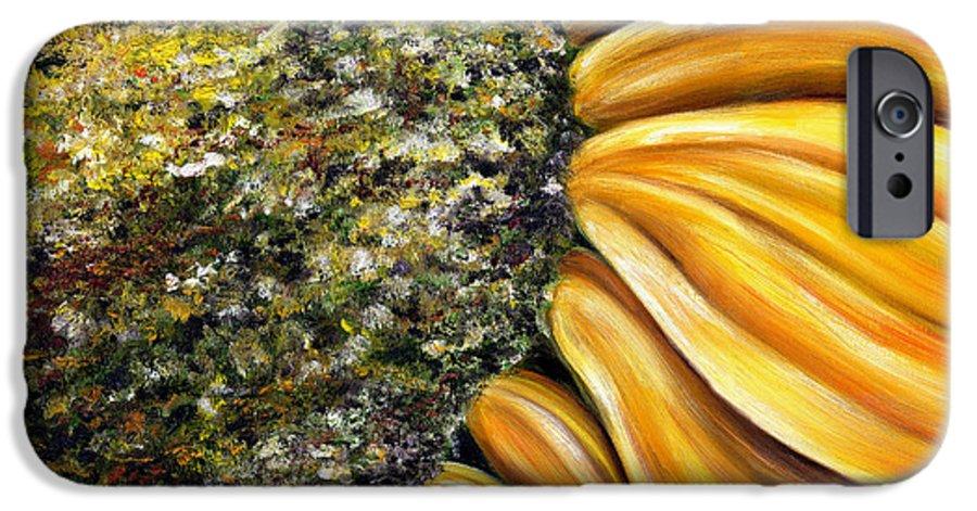 Sun Flower IPhone 6 Case featuring the painting Himawari by Hiroko Sakai