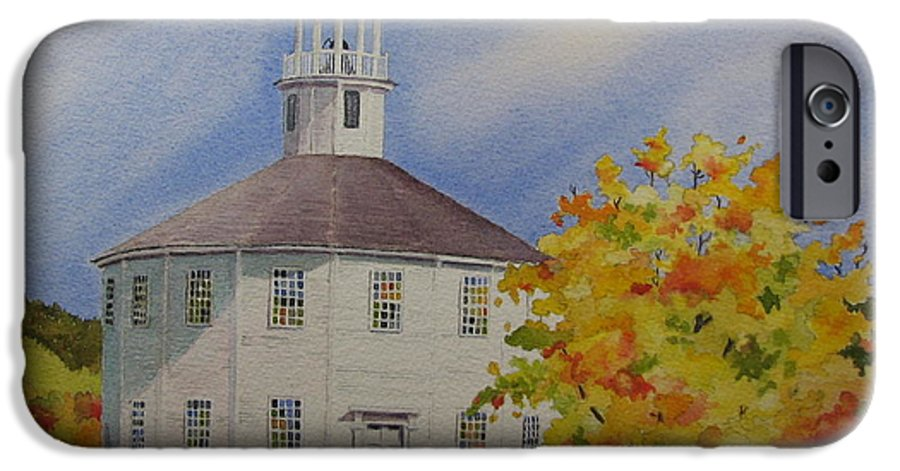 Richmond IPhone 6 Case featuring the painting Historic Richmond Round Church by Mary Ellen Mueller Legault
