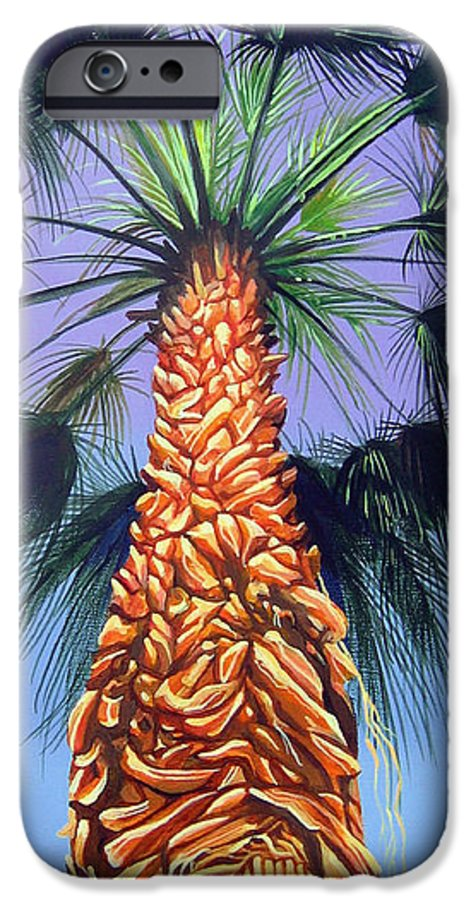 Palm Tree In Palm Springs California IPhone 6 Case featuring the painting Holding Onto The Earth by Hunter Jay