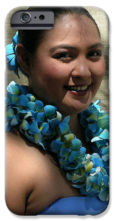 Hawaii Iphone Cases IPhone 6 Case featuring the photograph Hula Blue by James Temple