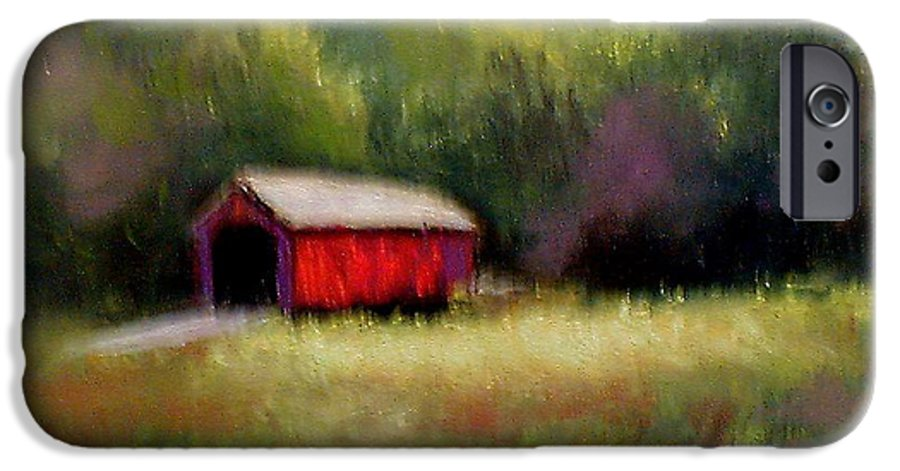Covered Bridge IPhone 6 Case featuring the painting Hune Bridge by Gail Kirtz