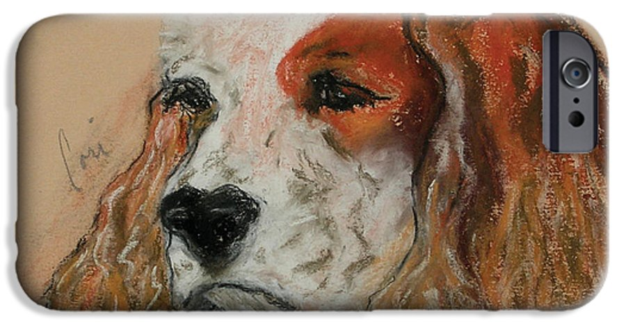 Dog IPhone 6 Case featuring the pastel Idle Thoughts by Cori Solomon