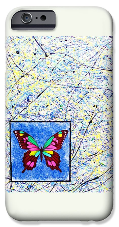 Abstract IPhone 6 Case featuring the painting Imperfect I by Micah Guenther
