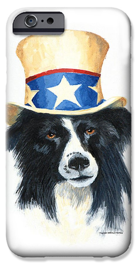 Dog IPhone 6 Case featuring the painting In Dog We Trust by Jerry McElroy