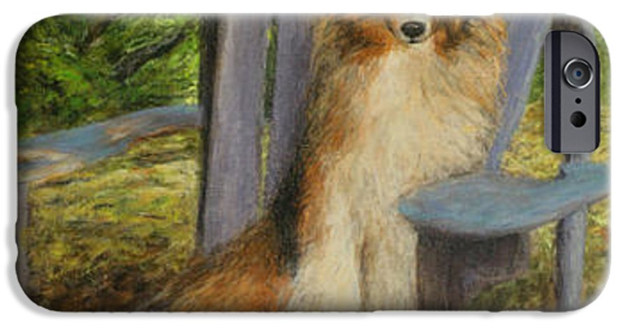 Pets IPhone 6 Case featuring the painting In Memory Of Esha by Chris Neil Smith