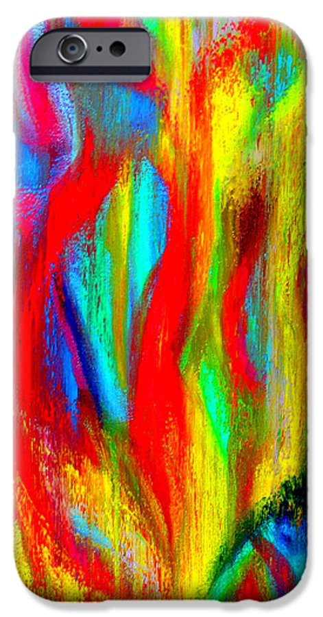 Abstract IPhone 6 Case featuring the painting Inspire Experiment by Stan Hamilton