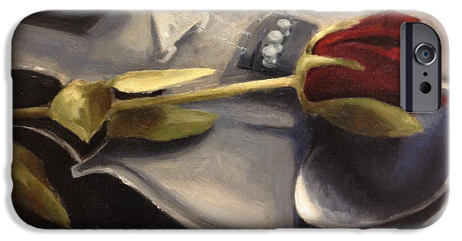 Violin IPhone 6 Case featuring the painting Interlude by Alison Schmidt Carson