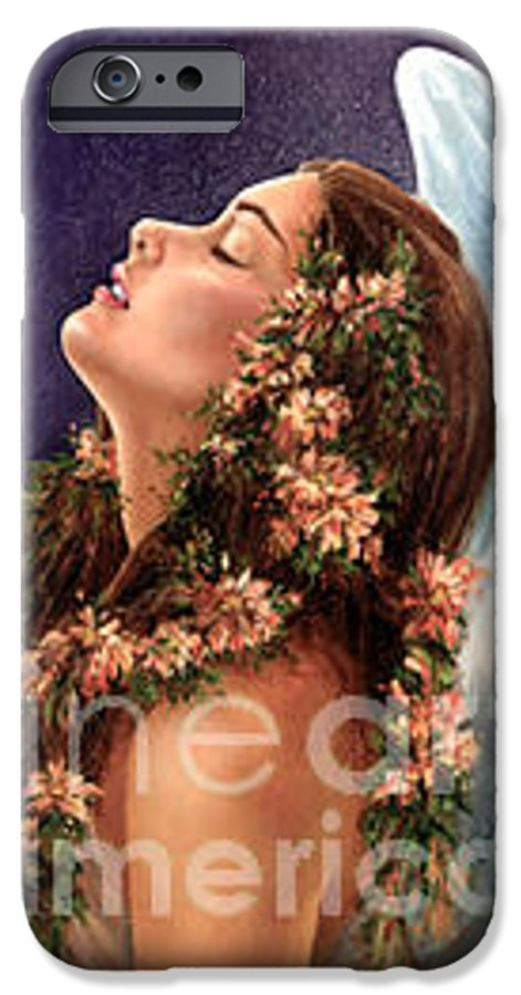 Angel IPhone 6 Case featuring the painting Island Angel by Wendy Froshay