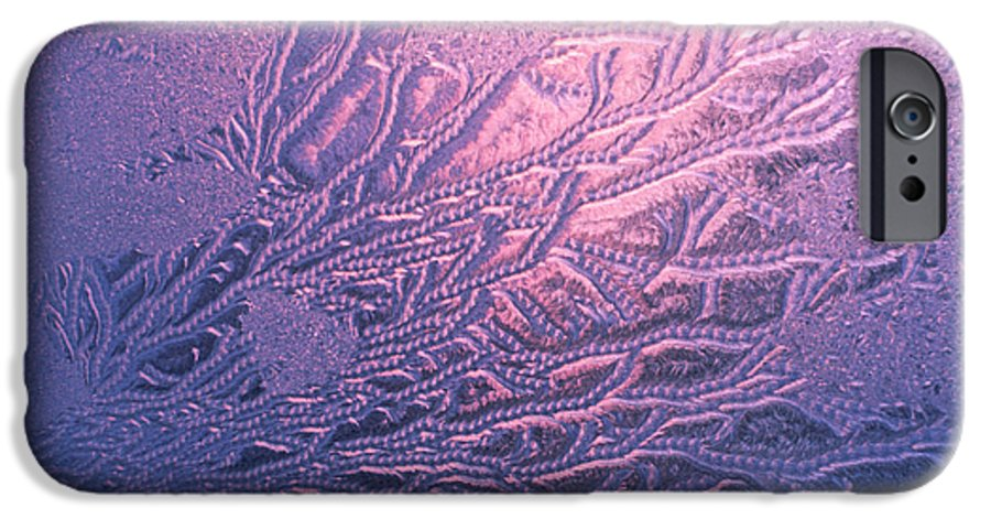 Frost IPhone 6 Case featuring the photograph Jack Frost Window At Dawn by Anna Lisa Yoder