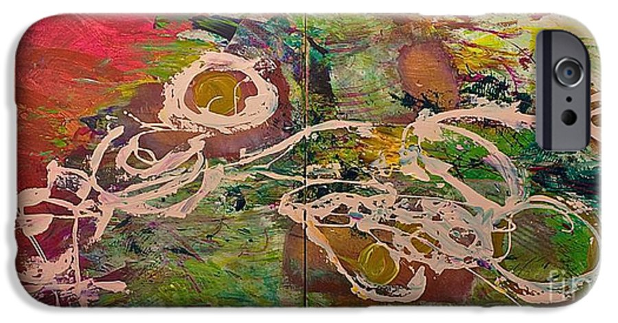 Landscape IPhone 6 Case featuring the painting Journey Forth by Allan P Friedlander