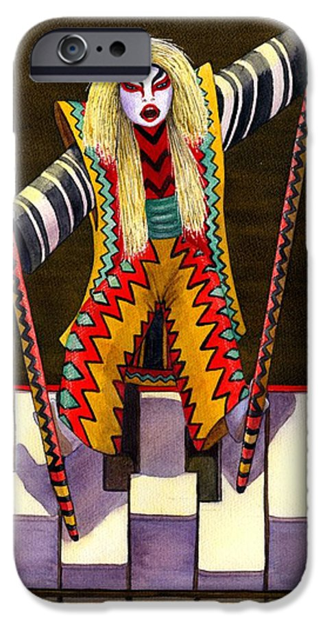 Kabuki IPhone 6 Case featuring the painting Kabuki Chopsticks 2 by Catherine G McElroy