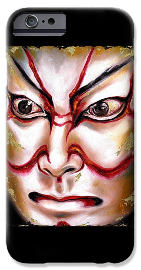 Kabuki IPhone 6 Case featuring the painting Kabuki One by Hiroko Sakai