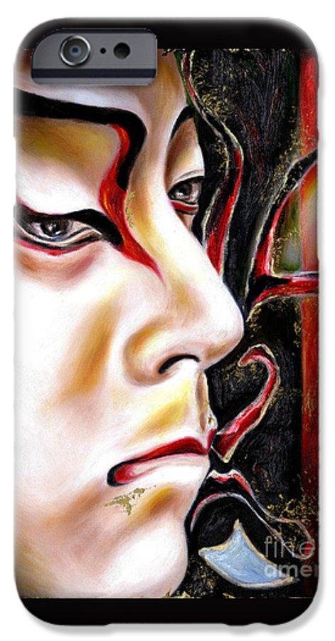 Kabuki IPhone 6 Case featuring the painting Kabuki Three by Hiroko Sakai