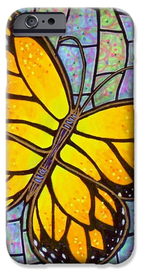 Butterflies IPhone 6 Case featuring the painting Karens Butterfly by Jim Harris