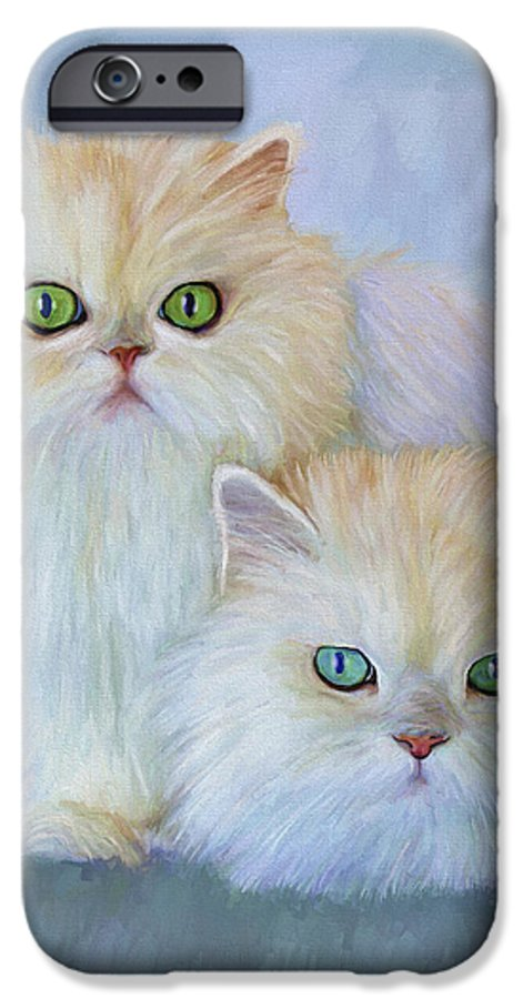 Cat IPhone 6 Case featuring the painting Katrina And Bjorn by David Wagner