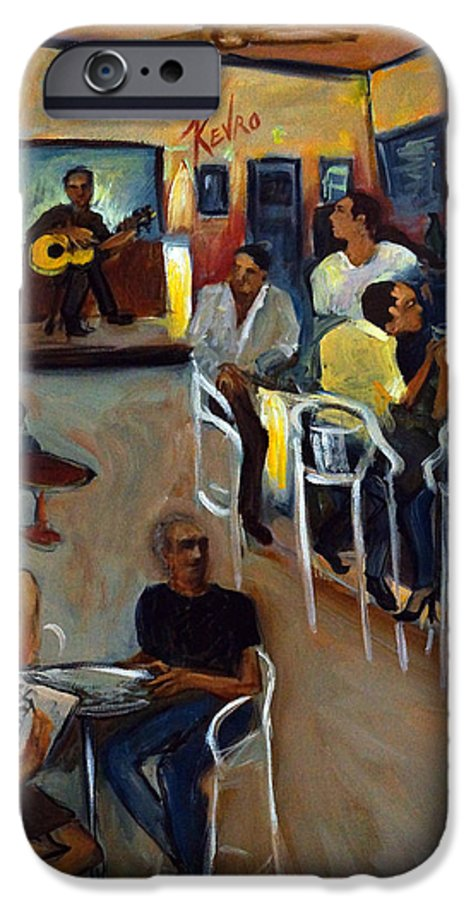 Art Bar IPhone 6 Case featuring the painting Kevro's Art Bar by Valerie Vescovi