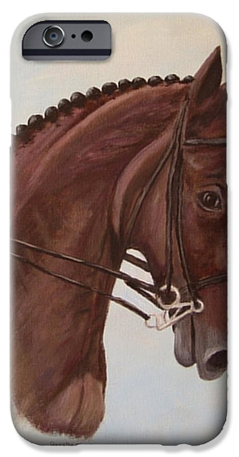 Horse IPhone 6 Case featuring the painting Kingd'azur by Quwatha Valentine