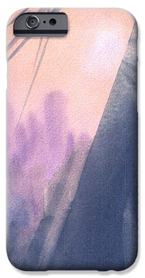 Landscape IPhone 6 Case featuring the painting La Morning by Christina Rahm Galanis