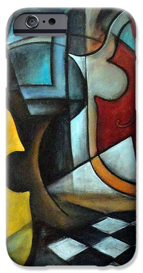 Abstract IPhone 6 Case featuring the painting La Musique 1 by Valerie Vescovi