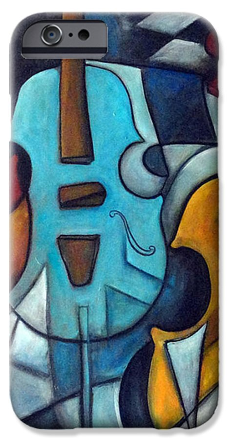 Music IPhone 6 Case featuring the painting La Musique 2 by Valerie Vescovi