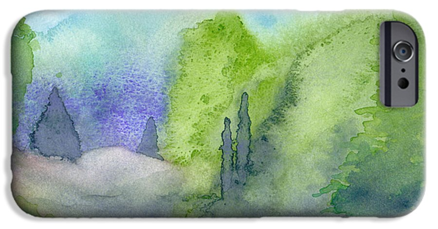 Landscape IPhone 6 Case featuring the painting Landscape 3 by Christina Rahm Galanis