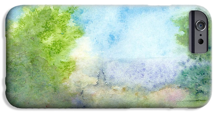 Landscape IPhone 6 Case featuring the painting Landscape 4 by Christina Rahm Galanis