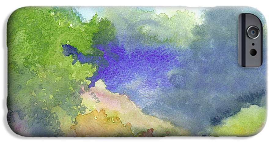 Landscape IPhone 6 Case featuring the painting Landscape 5 by Christina Rahm Galanis