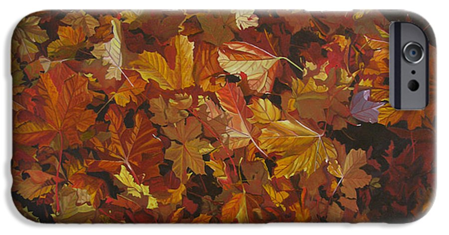 Fall IPhone 6 Case featuring the painting Last Fall In Monroe by Thu Nguyen