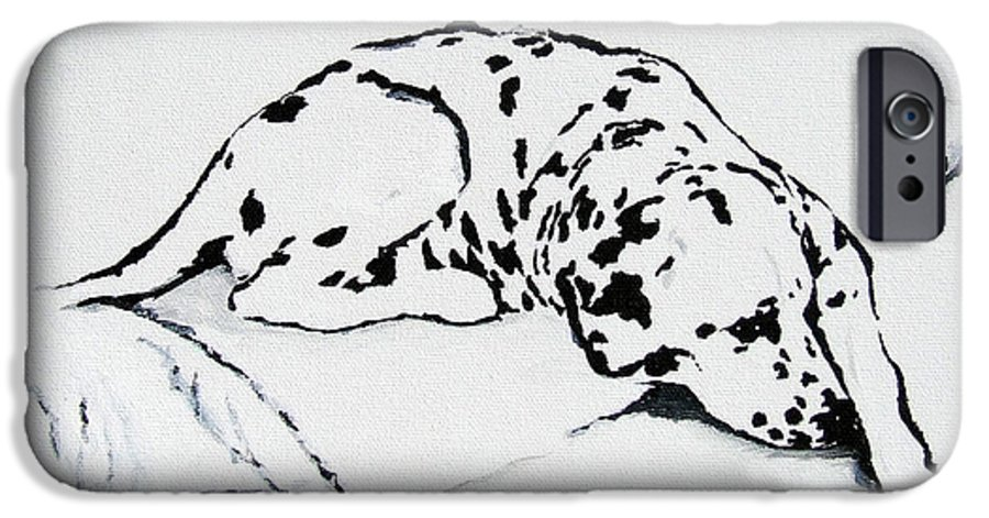 Dogs IPhone 6 Case featuring the painting Lazy Day by Jacki McGovern