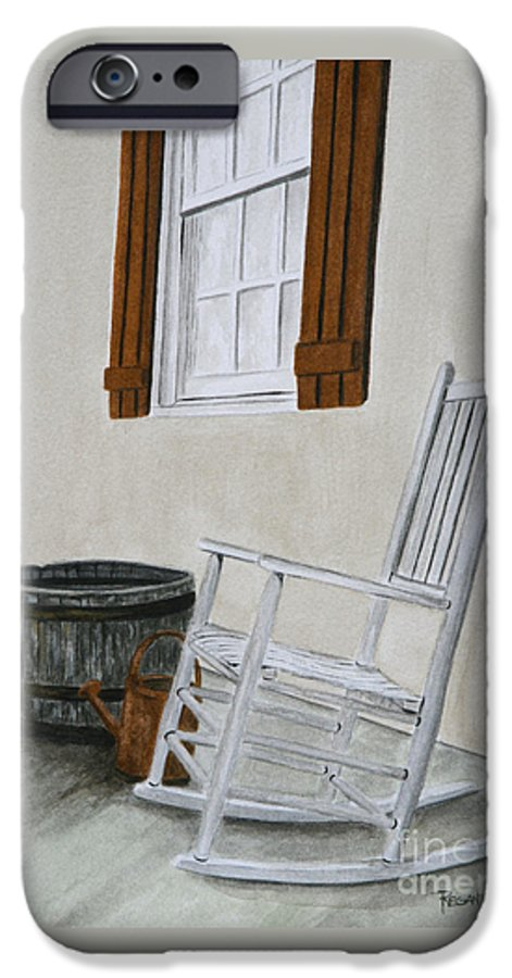 Americana IPhone 6 Case featuring the painting Lazy Day by Regan J Smith