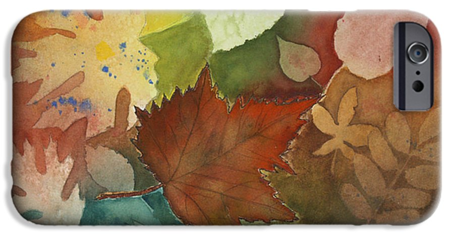 Leaves IPhone 6 Case featuring the painting Leaves Vl by Patricia Novack