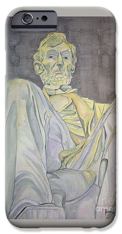 Presidents IPhone 6 Case featuring the painting Lincoln by Regan J Smith