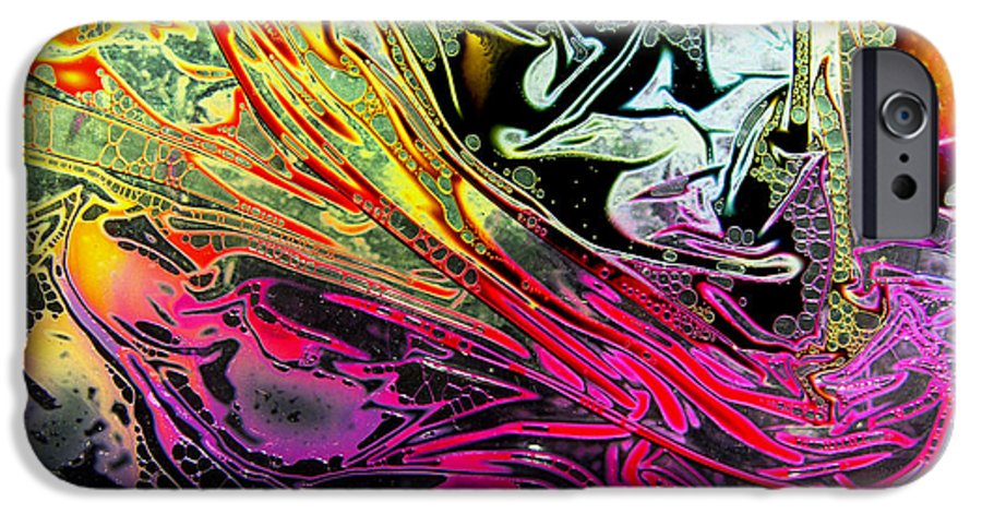 Surrealism IPhone 6 Case featuring the digital art Liquid Decalcomaniac Desires 1 by Otto Rapp