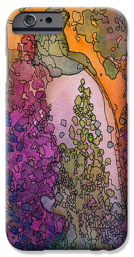 Fantasy IPhone 6 Case featuring the painting Little Girl On A Rock by Christina Rahm Galanis