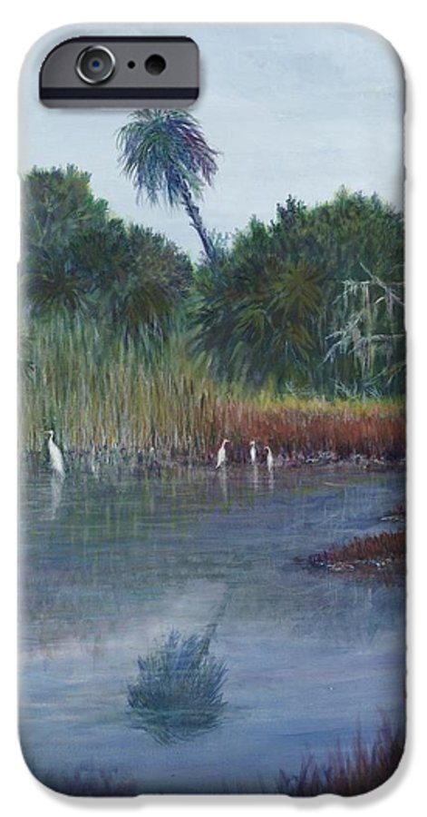 Landscape IPhone 6 Case featuring the painting Low Country Social by Ben Kiger