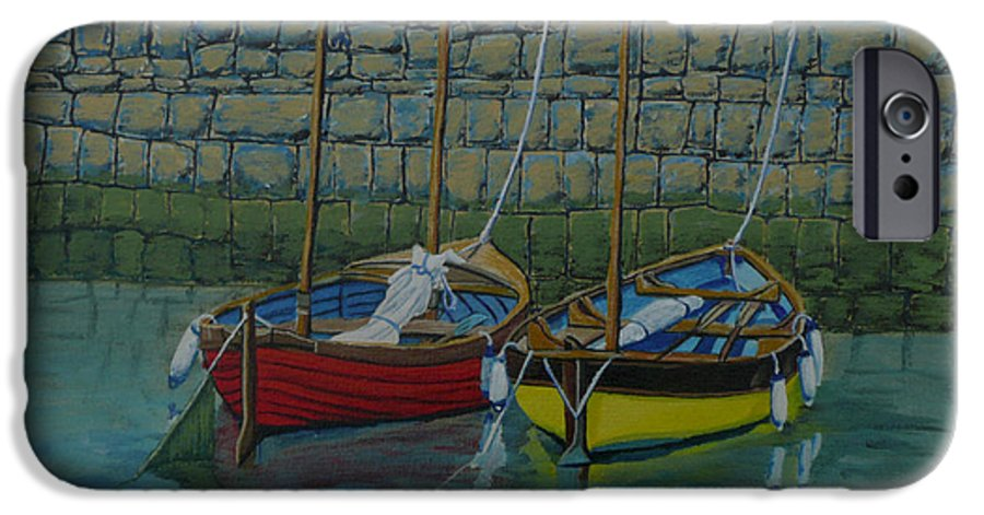 Rock IPhone 6 Case featuring the painting Low Tide by Anthony Dunphy