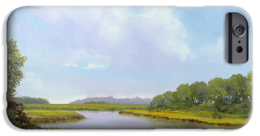 St. Simons IPhone 6 Case featuring the painting Lowcountry Afternoon by Glenn Secrest