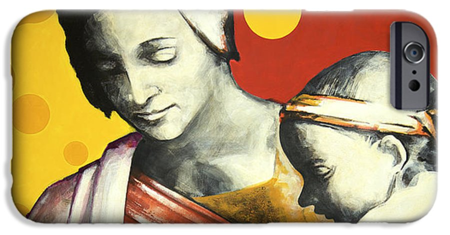 Figurative IPhone 6 Case featuring the painting Madona by Jean Pierre Rousselet