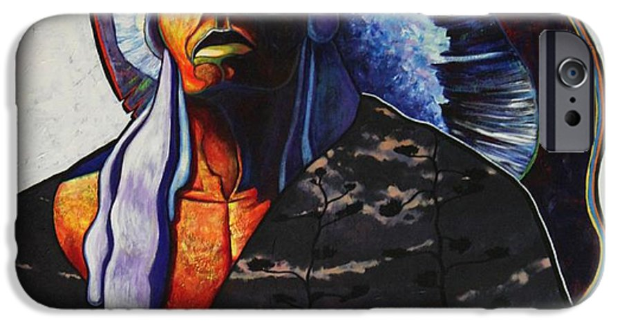 Native American IPhone 6 Case featuring the painting Make Me Worthy by Joe Triano
