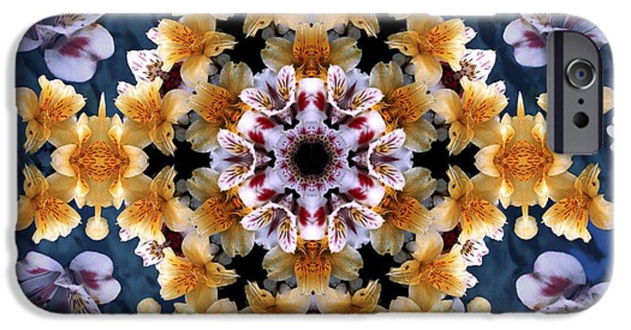 Mandala IPhone 6 Case featuring the digital art Mandala Alstro by Nancy Griswold