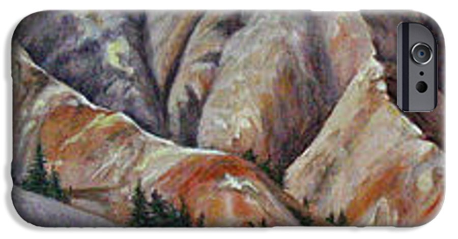 Mountains IPhone 6 Case featuring the painting Marble Ridge by Elaine Booth-Kallweit