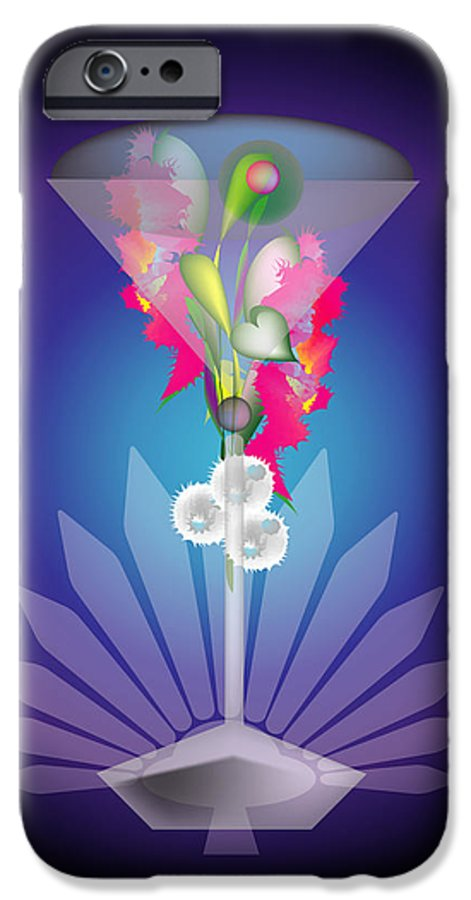 Martini IPhone 6 Case featuring the digital art Martini Flower by George Pasini