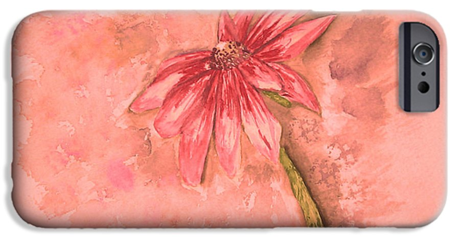 Watercolor IPhone 6 Case featuring the painting Melancholoy by Crystal Hubbard